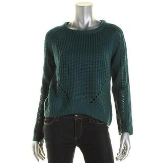 Olive & Oak Womens Hi-Low Crew Neck Pullover Sweater