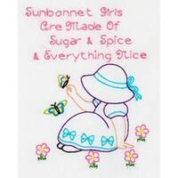 "Sunbonnet Sue - Stamped White Sampler 8""X10"""