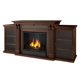 Real Flame 7720 Ashley Entertainment Center Ventless Gel Fireplace - Dark Espresso