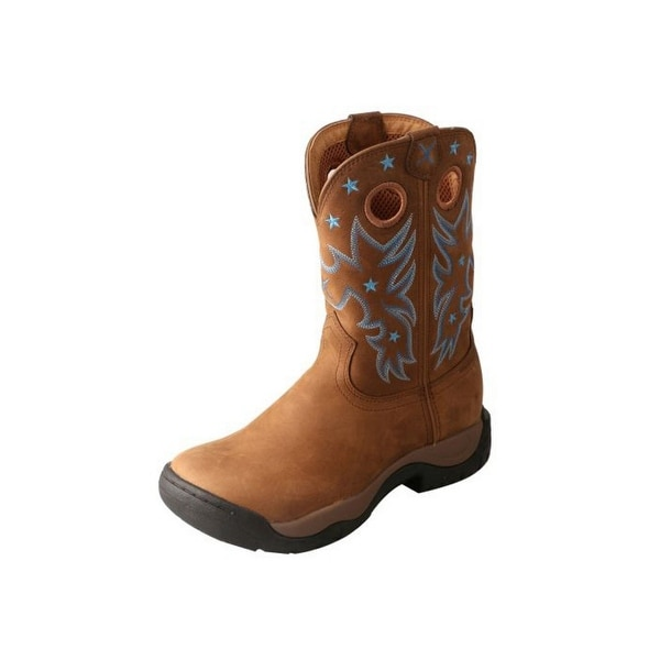 Twisted X Western Boots Womens Red Buckle All Around WP Brown