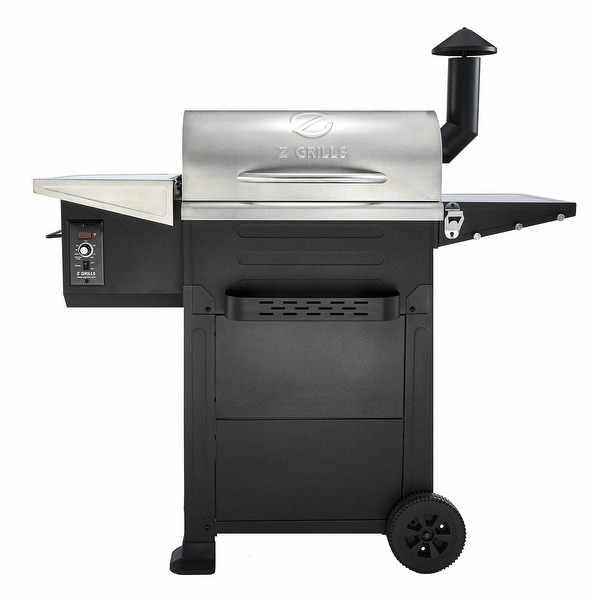 Z GRILLS Upgrade Wood Pellet Grill 8 in 1 BBQ Grill Smoker,Auto Temperature Control, 573 Square Inch Cooking Area, Silver. Opens flyout.