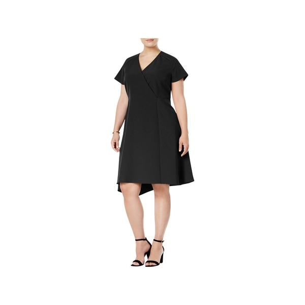 Anne Klein Womens Plus Cocktail Dress Crepe Fit & Flare
