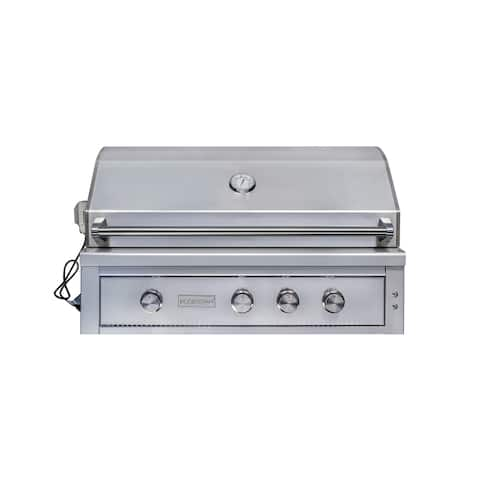 "EdgeStar GRL420IBBLP 89000 BTU 42"" Wide Liquid Propane Built-In Grill with Rotisserie and LED Lighting -"