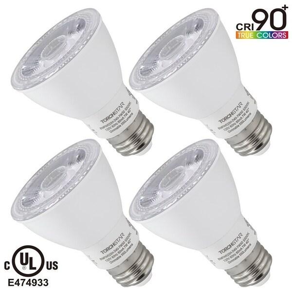 1 PACK/4 PACK Torchstar #Wet Location# Dimmable PAR20 LED Light Bulb, High CRI90+, 7W (50W Equivalent),3000K/4000K/5000K