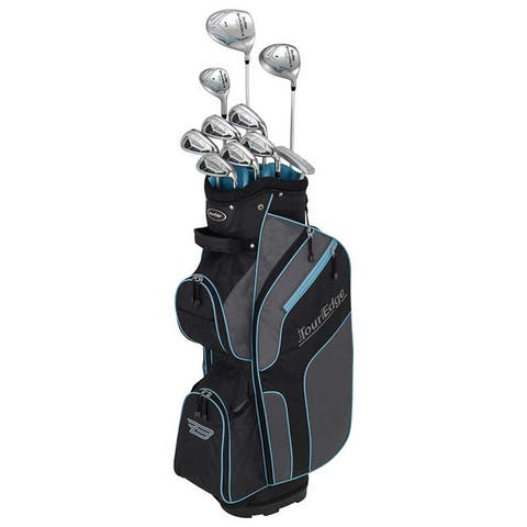 Tour Edge Golf Ladies Bazooka 270 Complete Set With Bag - Right Handed - Black / Grey / Blue