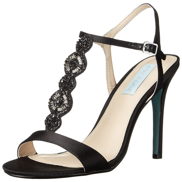 Betsey Johnson Womens Chloe Open Toe Special Occasion T-Strap Sandals
