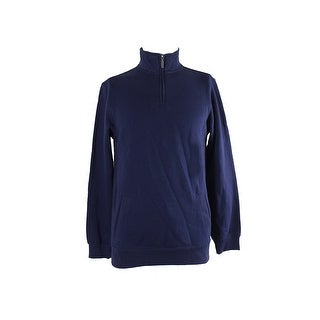 Club Room Navy 1/4-Zip Sweater S