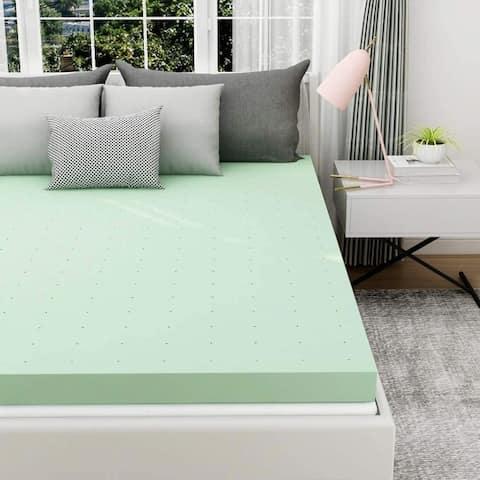 3 inch thin Memory Foam Mattress Smooth green