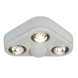All-Pro REV32735MW Revolve 270-Degree Outdoor Motion-Sensing LED Flood Light, White