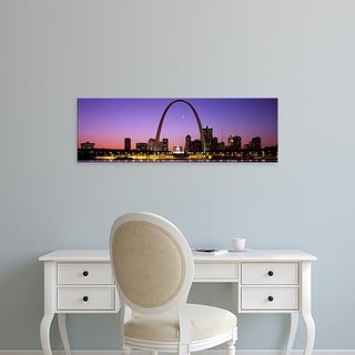 Easy Art Prints Panoramic Images's 'Skyline, St. Louis, MO, USA' Premium Canvas Art