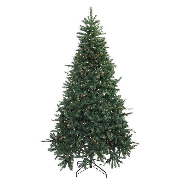 7.5' Pre-Lit Northern Pine Full Artificial Christmas Tree - Clear Lights