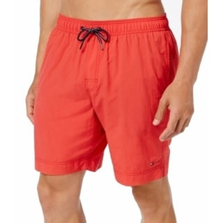 Tommy Hilfiger NEW Red Mens Small S Board Surf Swim Trunks Shorts