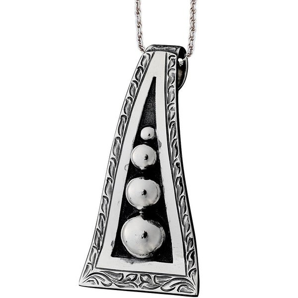 "Vogt Western Womens Necklace Retro-Style 18"" Sterling Silver 016-129"