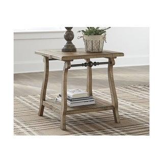 Dazzelton Rectangular End Table Two-tone Rectangular End Table