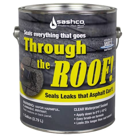 Sashco 14024 Through the Roof! Elastomeric Roof Sealant, 1 Gallon, Clear
