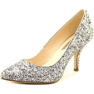 INC International Concepts Zitah Women Pointed Toe Synthetic Silver Heels