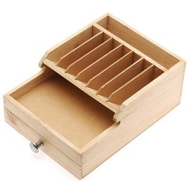 Wooden Storage Box For Tools And Beads With Storage Compartment