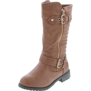 Link to Link Mango-20K Children Girl's Comfort Knee High Double Straps Riding Boots Similar Items in Intimates