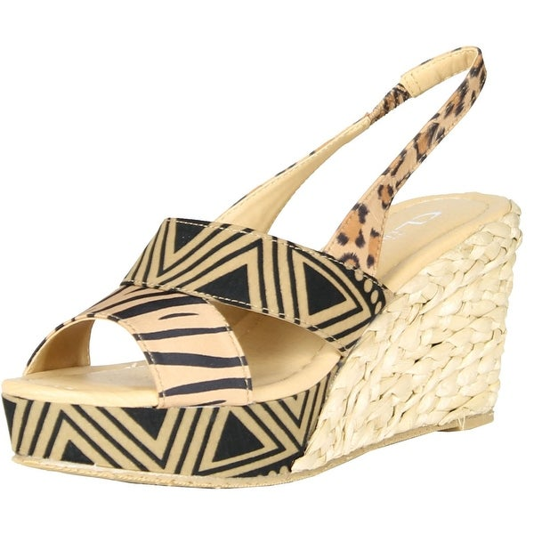 Cl By Chinese Laundry Womens Dream Again Wedge Sandals - camel multi