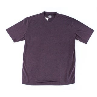 Alfani NEW Eggplant Purple Mens Size XLT Big & Tall V-Neck Shirts Tops