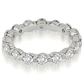 2.40 cttw. 14K White Gold Round Diamond Eternity Ring