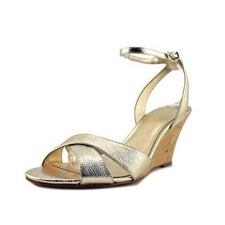 Nine West Kami   Peep-Toe Leather  Heels