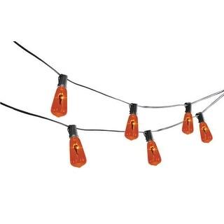 Sylvania V33174-71 Vintage Flicker Flame Lights Halloween Decor, Orange
