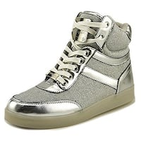 Bebe Womens Krysten Hight Top Pull On Fashion Sneakers