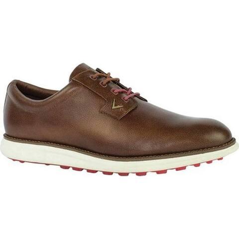 Callaway Men's Swami 2.0 Waterproof Golf Shoe Brown Full Grain Leather
