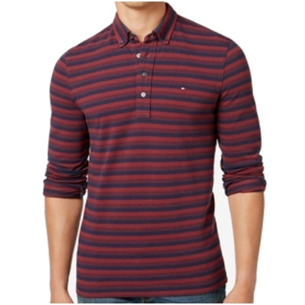 26e71d93 Shop Tommy Hilfiger NEW Red Mens Size XL Striped Ribbed-Knit Polo Shirt -  Free Shipping On Orders Over $45 - Overstock - 19423927