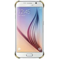 Samsung Protective Cover Clear for Samsung Galaxy S6 - Clear/Gold Protective Cover