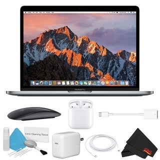 Apple 13.3 MacBook Pro Mid 2017, 256GB, Space Gray Bundle airpods bundle