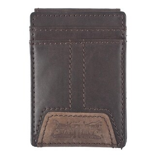 Levis Men's Leather Magnetic Money Clip Front Pocket Wallet - One size (2 options available)