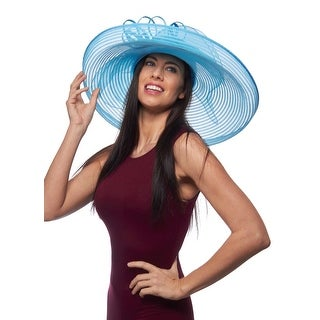 Epsom Downs Wide Brim Sinamay Derby Hat