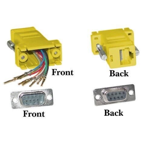 Offex Modular Adapter DB9 Male to RJ45 Jack - Yellow