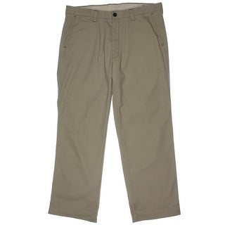 Haggar Mens Live Comfortable Twill Relaxed Fit Chino Pants - 36/34