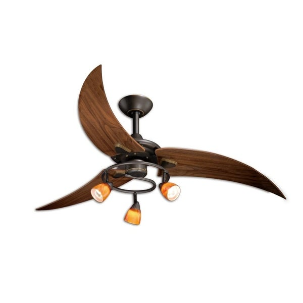 "Vaxcel Lighting FN48121 Picard 48"" 3 Blade Indoor Ceiling Fan - Light Kit and Fan Blades Included"
