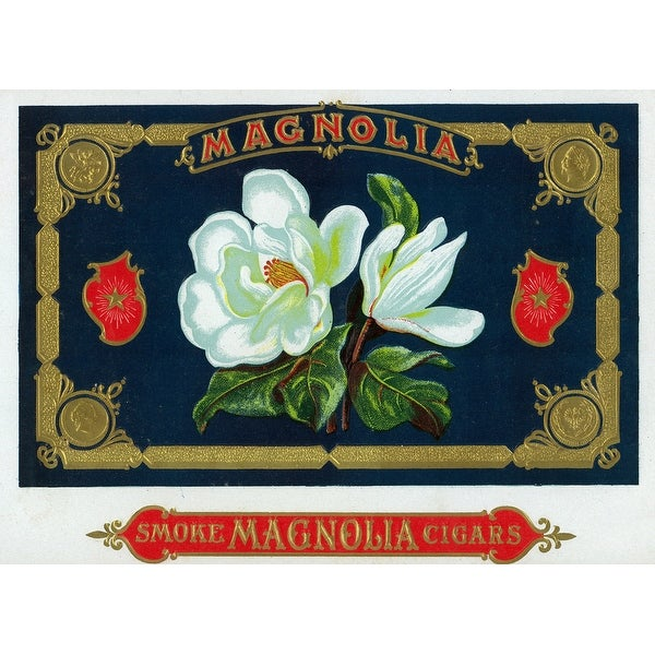Magnolia Brand Cigar - Vintage Label (100% Cotton Towel Absorbent)