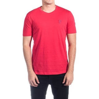Versace Collection Men's Cotton Medusa Logo Crew Neck T-Shirt Red