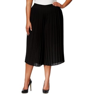 NY Collection Womens Plus Gaucho Pants Polyester Pleated - 3x