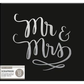 "K&Company Phrase Post Bound Album 12""X12""-Mr. & Mrs. Wedding"