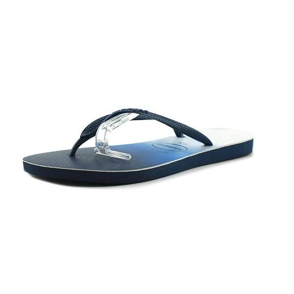 13a2a0452a4fbd Shop Havaianas Slim Dip Dye Women Open Toe Synthetic Blue Flip Flop ...