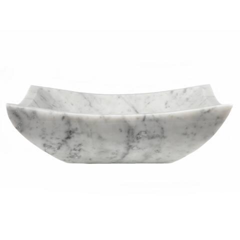 Eden Bath Square Deep Zen Sink - White Carrara Marble