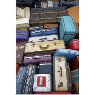 """""""stacked suitcases"""" Poster Print"""