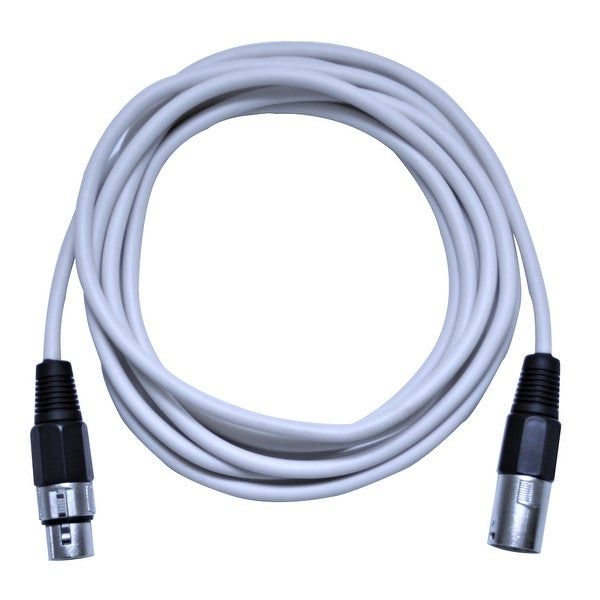 shop seismic audio 10 foot white xlr to xlr patch cable 10 39 xlr patch cord free shipping on. Black Bedroom Furniture Sets. Home Design Ideas