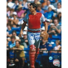"Bob Boone California Angels Autographed 8x10 Photo Inscribed ""4X All Star"" -Walking-"
