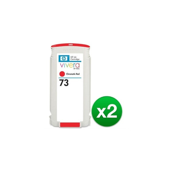 HP 73 130-ml Chromatic Red DesignJet Ink Cartridge (2-Pack)