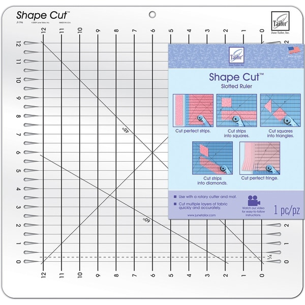 "Shape Cut Ruler-16""X16-1/2"""