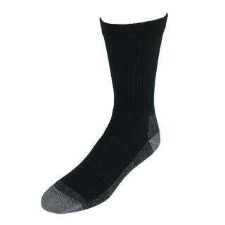 Fruit of the Loom Men's Heavy Duty Work Crew Socks (5 Pair Pack) (Option: Black)