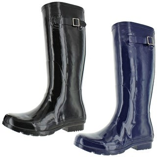 Link to Nomad Women's Hurricane II Shiny Rubber Tall Wellie Rain Boots Similar Items in Women's Shoes